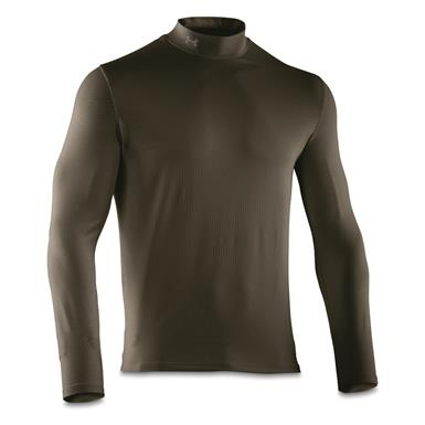 Under Armour Men's ColdGear Infrared EVO Mock Turtleneck Long Sleeve Shirt, Rifle Green