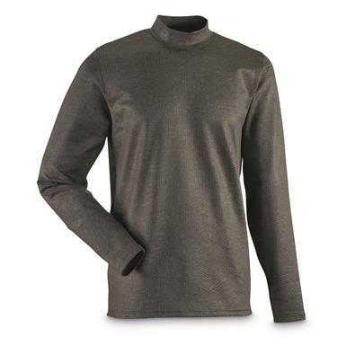 Under Armour Men's ColdGear Infrared EVO Mock Turtleneck Long Sleeve Shirt, Nori Green/Black