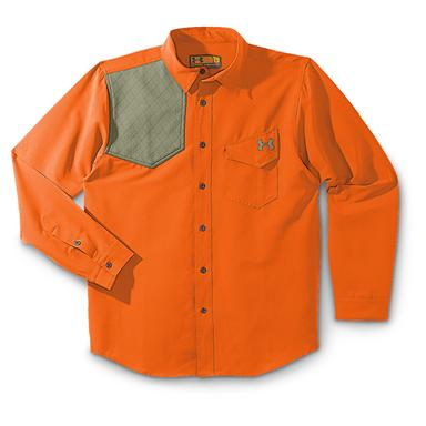 Under Armour® Prey Shooting Shirt, Blaze Orange / Thyme