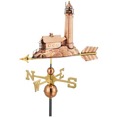 Lighthouse Weathervane, 27x16 inch h.