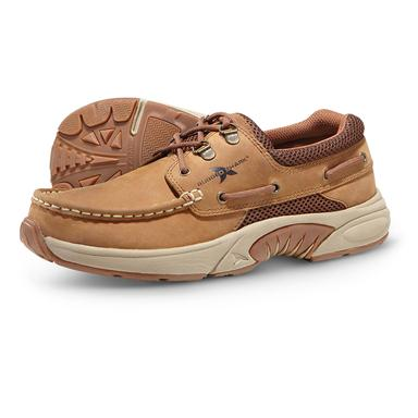 Rugged Shark Men's Atlantic Oxford Boat Shoes, Copper