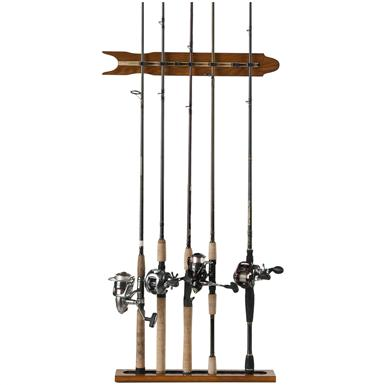 Organized Fishing 8-Rod Modular Wall Rack, Oak