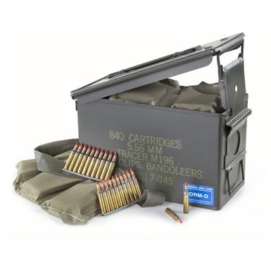 840 rds. Lake City .223 (5.56 x 45mm) 54 - grain Tracer Ammo