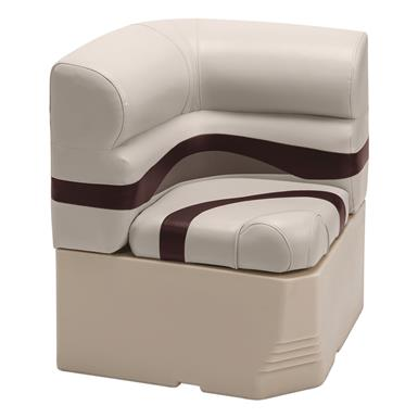 "Wise Premier Pontoon 25"" Radius Corner Section Seat, Color C - Platinum Punch / Wineberry / Manitee"
