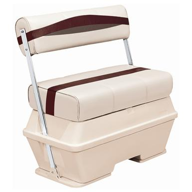 Wise® Premier Cooler Flip-Flop Pontoon Seat, Color C - Platinum Punch / Wineberry / Manatee