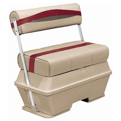 Wise® Premier Cooler Flip-Flop Pontoon Seat, Color E - Mocha Java Punch / Dark Red / Rock Salt