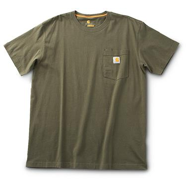 Carhartt Contractor's Work Short-sleeved Pocket T-shirt, Forest Night