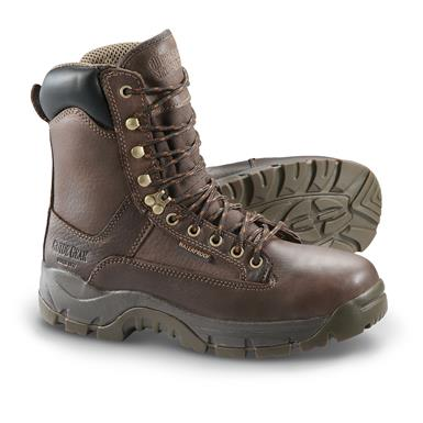 Guide Gear Men's Hammer Waterproof Work Boots, Dark Brown