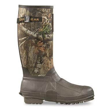 "Guide Gear Men's 15"" Insulated Rubber Boots, 400 Grams, Realtree AP Camo, Realtree EDGE™"