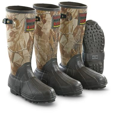 "Guide Gear Men's 15"" Insulated Rubber Boots, 400 Grams, Realtree AP Camo, Realtree AP®/Brown"