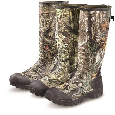 Guide Gear Men's Ankle Fit Insulated Rubber Boots, 800 Gram; From Left to Right: Mossy Oak Break-Up Country / Mossy Oak Break-Up Infinity / Realtree Xtra
