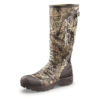 Guide Gear Men's Ankle Fit Insulated Rubber Boots, 800 Gram, Mossy Oak Break-Up Country