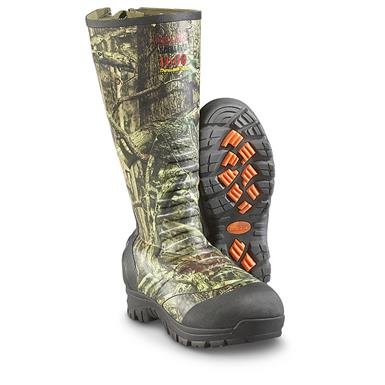 "Guide Gear Men's 17"" Insulated Rubber Boots, 1,600 Grams, Mossy Oak Break-Up Camo, Mossy Oak Break-Up Infinity®"