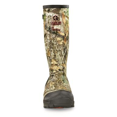 Guide Gear Men's Ankle Fit Insulated Rubber Boots, 2,400 gram, Realtree EDGE™
