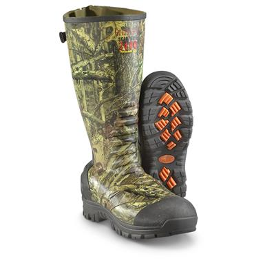 Guide Gear 2,400-gram Ankle Fit Rubber Boots, Mossy Oak Infinity, Mossy Oak Infinity®