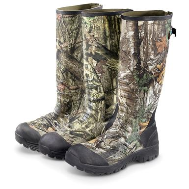 Guide Gear Men's Ankle Fit Insulated Rubber Boots, 2,400 grams, Mossy Oak Break-Up® COUNTRY™   (1FP