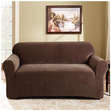 Sure Fit® Stretch Pearson Loveseat Slipcover, Coffee