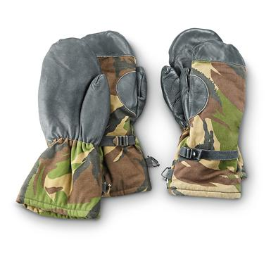 Dutch Military Surplus Camo Mittens, 2 Pack, Used