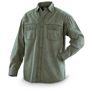 Guide Gear® Pigment-dyed Long-sleeved Shirt, Olive