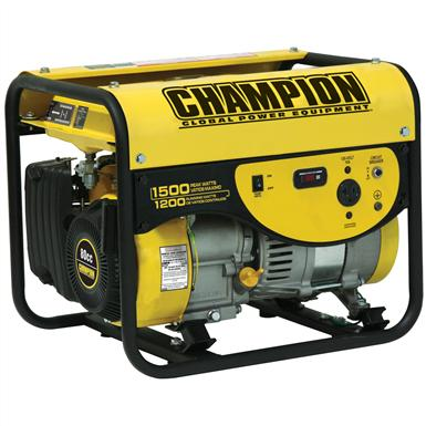 Champion Power Equipment Portable CARB-compliant 1,200 / 1,500-watt Gas-Powered Generator