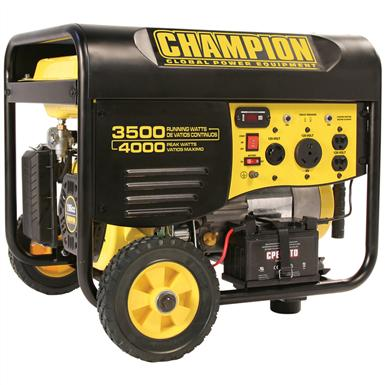 Champion Power Equipment Portable CARB-compliant 3,500 / 4,000-watt Gas-powered Remote Start Generator with Wheel Kit