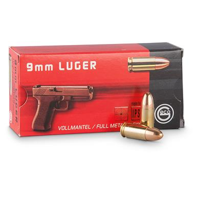GECO, 9mm Luger, FMJ, 115 Grain, 50 Rounds