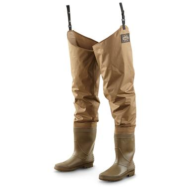 Guide Gear Nylon / PVC Hip Waders, Brown