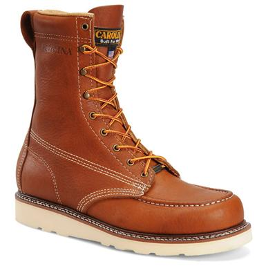 "Men's Carolina® 8"" Domestic Moc Toe Wedge Work Boots"