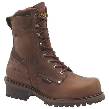 "Men's Carolina® 9"" Broad Toe Waterproof 400-gram Thinsulate™ Ultra Insulated Logger Boots"