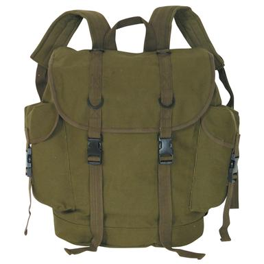 Fox Outdoor™ German Military-style Alpine Backpack, Olive Drab