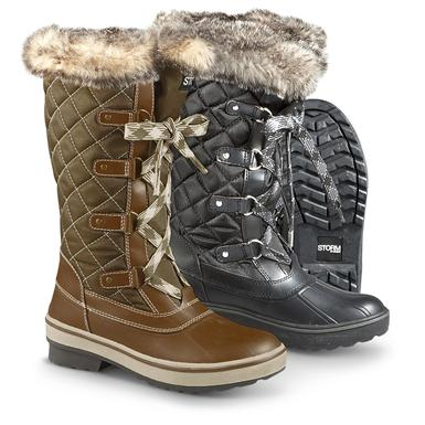 Women's Cougar™ Aspen Quilted Winter Boots • Black or Olive