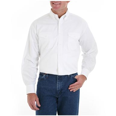 Men's Wrangler® Painted Desert® Long-sleeved Twill Shirt, White