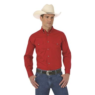 Wrangler® Men's Painted Desert® Basic Western Shirt, Red