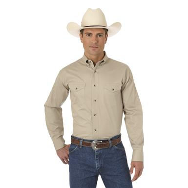 Wrangler® Men's Painted Desert® Basic Western Shirt, Tan