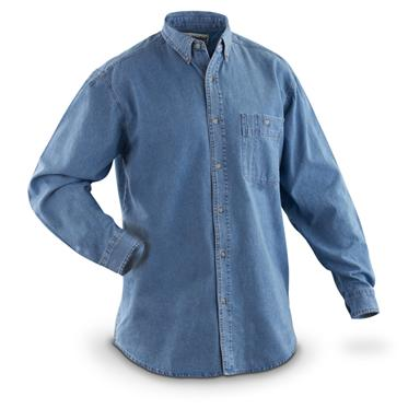 Men's Wrangler® Rugged Wear® Denim Long-sleeved Basic Shirt