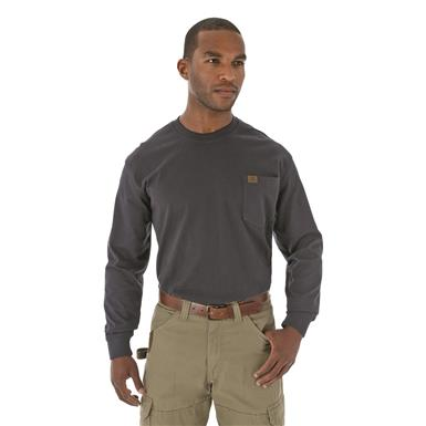 Men's Wrangler® RIGGS Workwear® Long-sleeved Pocket T-shirt, Navy