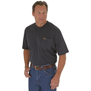 Men's Riggs Workwear® by Wrangler® Short-sleeved Henley T-shirt, Navy