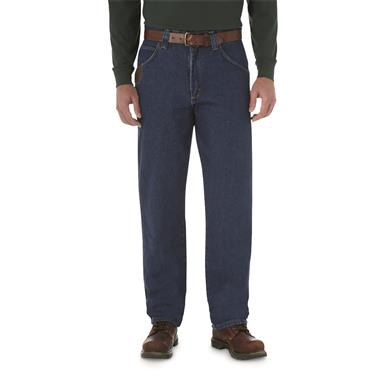 Men's RIGGS WORKWEAR® by Wrangler® Relaxed Fit Five Pocket Jeans, Antique Indigo