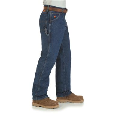 Wrangler RIGGS Workwear Men's FR Flame Resistant Carpenter Jeans, Denim