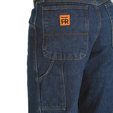 Left side utility pocket, right side hammer loop, Denim