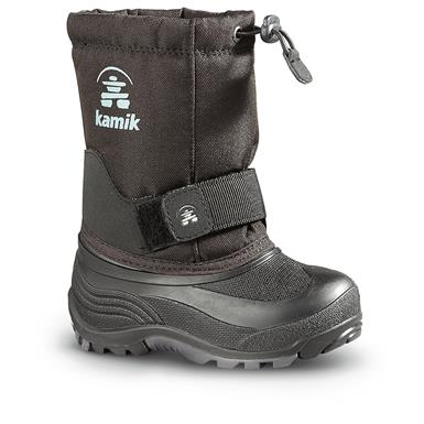 Kamik Kids' Rocket Winter Boots, Black