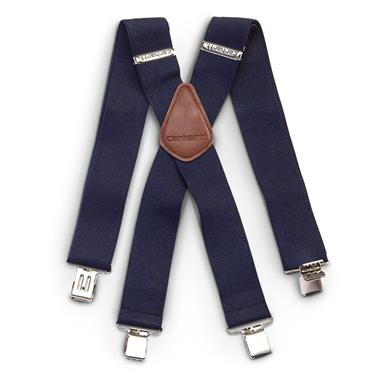 Carhartt Utility Work Clothes Suspenders, Navy