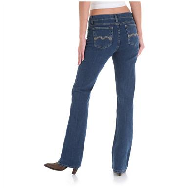 Women's As Real as Wrangler® Misses Classic Fit Jeans, Ripling Water - Back View