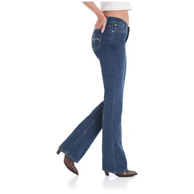 Women's As Real as Wrangler® Misses Classic Fit Jeans, Ripling Water - Side View