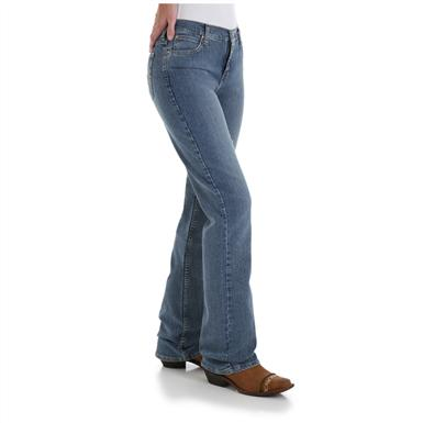 Women's As Real as Wrangler® Misses Classic Fit Jeans, Whispering River - Side View