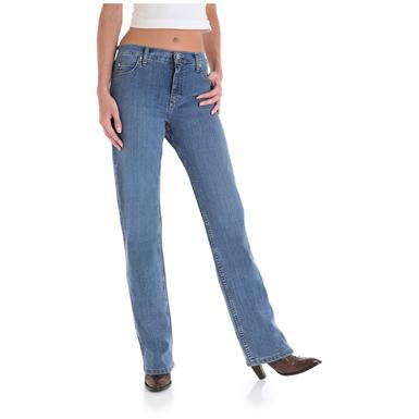 Women's As Real as Wrangler® Misses Relaxed Fit Jeans, Western Storm