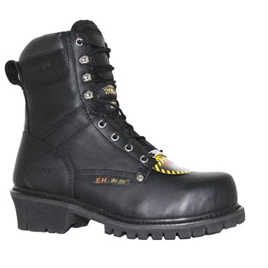 Men's 9 inch Ad Tec® 200-gram Thinsulate™ Insulation Steel Toe Super Loggers, Black