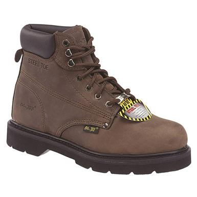 Men's 6 inch Ad Tec® Nubuck Steel Toe Work Boots, Brown