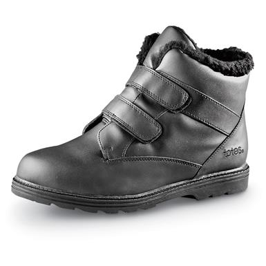 Totes Men's Waterproof Snow Boots, Black