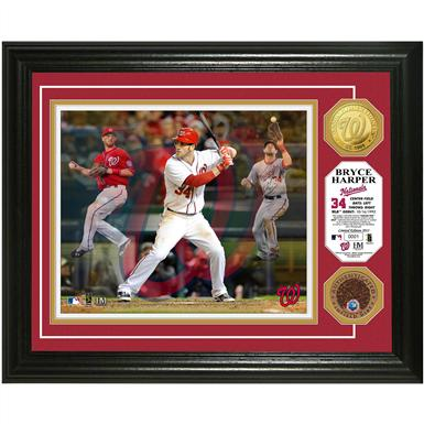 "Bryce Harper ""Triple Play"" Game-used Dirt Coin Photo Mint from Highland Mint®"
